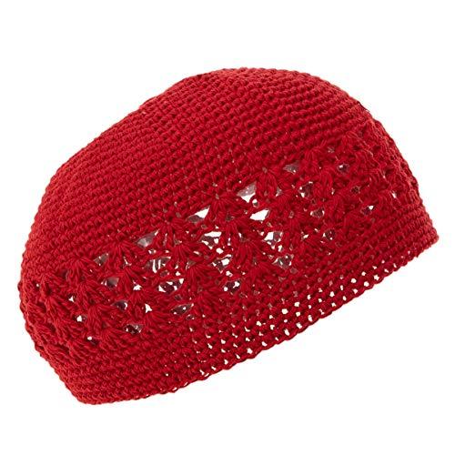 Red Dual Weave Kufi - Single Piece