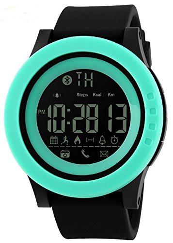 Hombres Mujeres Reloj Inteligente calorías podómetro multi-functions, 50m resistente al agua Digital de cámara remota reloj inteligente