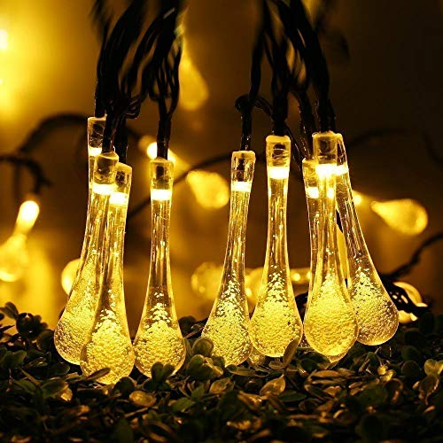 Luz solar Luz solar 5M 7M Cadena de luces LED Luces de hadas Guirnalda solar Jardín Boda Vacaciones Decoración navideña al aire libre