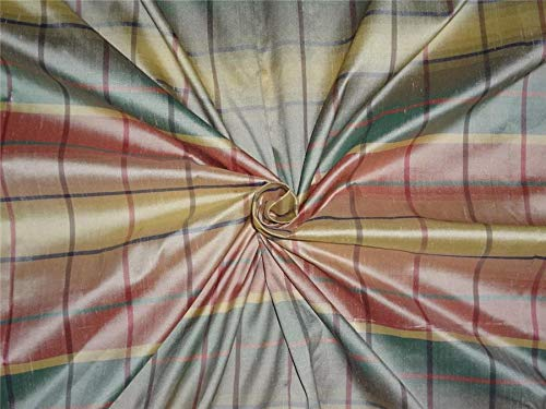 Multi Color ~ Silk Dupioni Fabric ~Width 54 DUP#C15 by The Yard