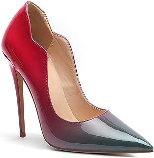 fbac357a6043 LXIANGP Chaussures À Talons Hauts pour Les Dames Et Les Femmes A Souligné  La Bouche Peu