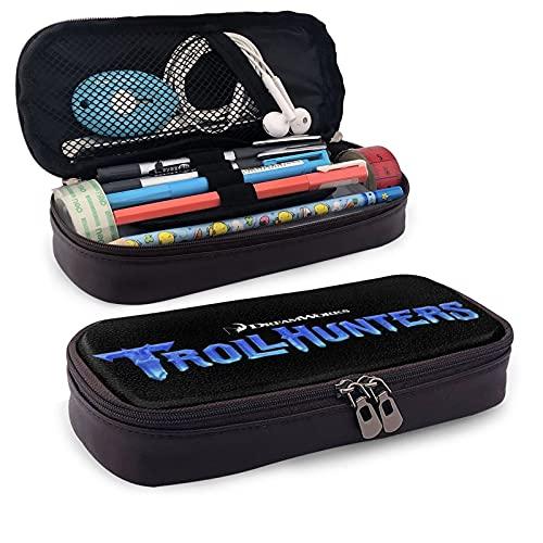 Troll Hunters - Estuche grande para lápices, gran capacidad, soporte para bolígrafos, suministros escolares, papelería, bolsa de maquillaje, organizador de almacenamiento de regalo para la escuela