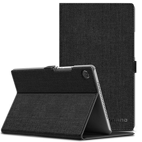 INFILAND Huawei MediaPad M5 8.4 Hülle,Slim Ultraleicht PU-Lederne Halten Sie Vorne Schutzhülle Cover für Huawei MediaPad M5 8.4 Zoll Tablet(mit Auto Schlaf/Wach Funktion),Schwarz