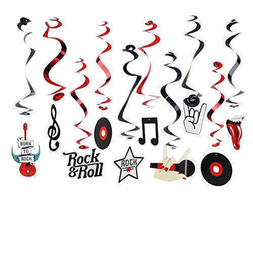 SUNBEAUTY Rock Party Dekoration Rock \'n\' Roll Hängedekoration Disco