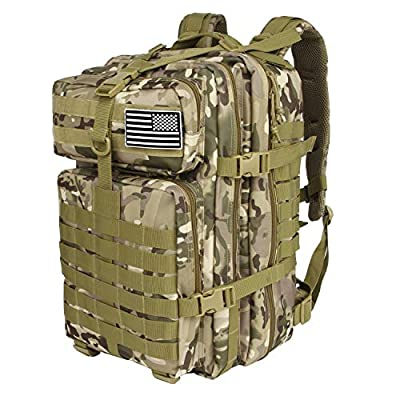 Jueachy Military Tactical Backpack Molle Army Assault Pack for Men Large Capacity 42L