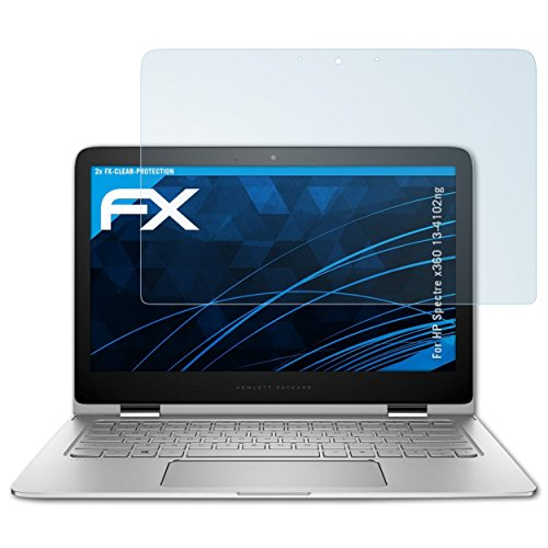 atFolix Schutzfolie kompatibel mit HP Spectre x360 13-4102ng Folie, ultraklare FX Bildschirmschutzfolie (2X)