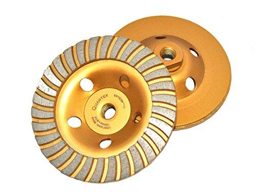 M14 Gold Diamant Schleiftopf, Durchmesser 125 mm, für Winkelschleifer. Turbo Topfscheibe, Schleifteller Gold.