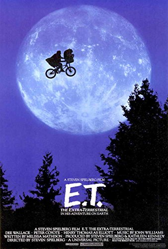 E.T. The Extra-Terrestrial Movie POSTER 27 x 40, Henry Thomas, A, MADE IN THE U.S.A.