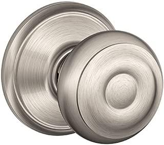 Schlage F40GEO619 Georgian Privacy Knob, 1 Pack, Satin Nickel