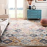 Safavieh Madison Collection MAD611B Bohemian Chic Vintage Distressed Area Rug, 4' x 6', Cream/Multi
