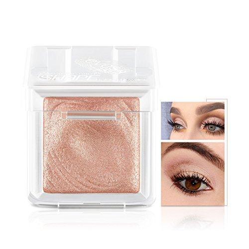 Fard à Paupières Single Eyeshadow Palette Shimmer Metallic Baked poudre de maquillage pour les yeux Smoky Yeux Pigments Ombre à Paupière (café léger)