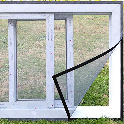 Koroda DIY Magic Post Window Screen: 59' X 47' Adjustable Self-Adhesive Fiberglass Mesh Curtain to Keep Out Fly | Cat (Gray)