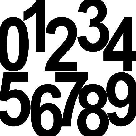 20 St/ück 6cm wei/ß Ziffer Ziffern Zahl Zahlen Nummer Hausnummer Aufkleber die cut Tattoo Deko Folie