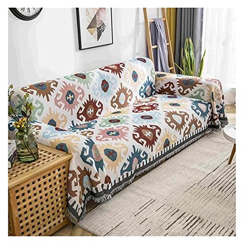 FYGYQ Cubierta de sofá nórdico Tiro Manta Condición de Aire Agavinas Punto Playa Towel Mats Picnic Paño Camping Mantas Alimentos Alfombras (Color : N1, Size : 180x180cm)