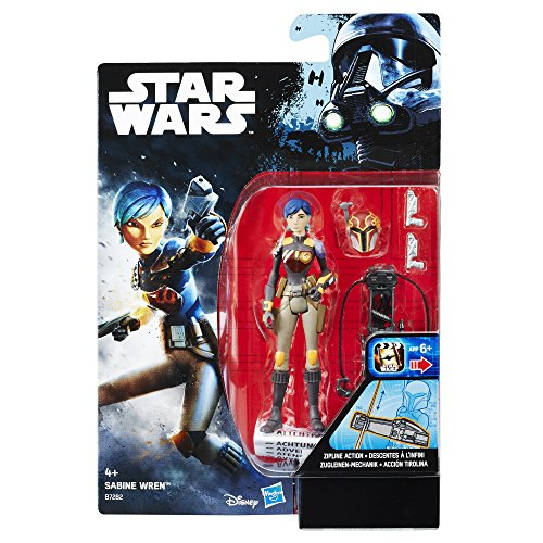 Hasbro Star Wars B7282El2 - Rogue One Battle-Action Basisfiguren - Swu Sabine Wren Actionfigur