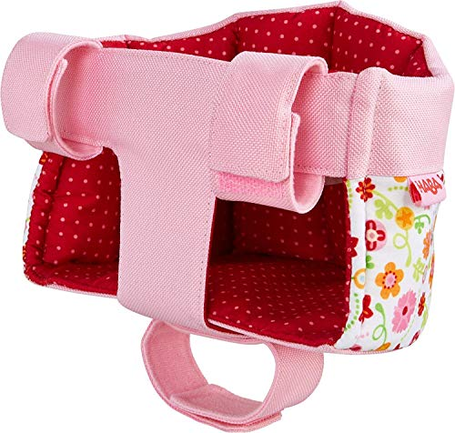 HABA Soft Doll's Bike Seat Flower Meadow - Attaches to Handlebars with Hook & Loop Attachment (Scooters Trikes & Bicycles)