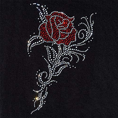 Motiv zum Aufbügeln Strass–Rosa Tribal–15x 25cm