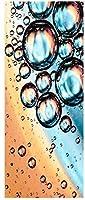 ウォールステッカー シール 貼ってはがせる 室内用ドア装飾シート 防水シール 部屋 ドアシート ドア壁紙 DIY おしゃれ たそがれ 水滴 飾り M231