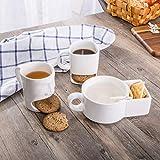 Krafthertz Shaik Kreative Kaffeetasse mit Keks Pocket Keramik Tassen für Kaffee Tee Tasse Lustige Tasse