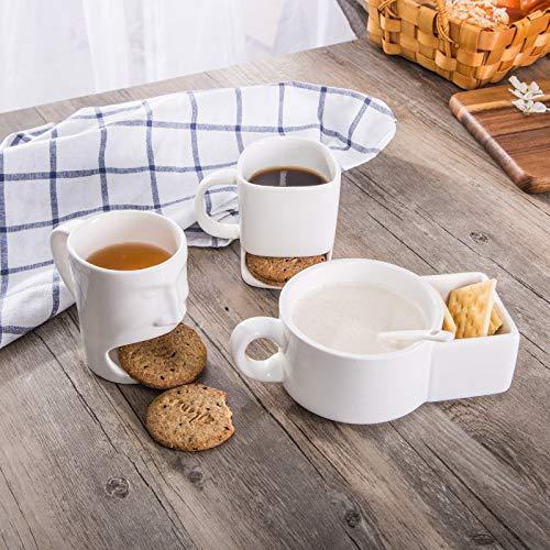 Krafthertz Shaik® Kreative Kaffeetasse mit Keks Pocket Keramik Tassen für Kaffee Tee Tasse Lustige Tasse