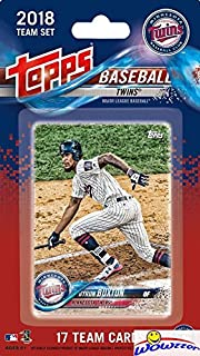 Minnesota Twins 2018 Topps Baseball EXCLUSIVE Special Limited Edition 17 Card Complete Team Set with Byron Buxton, Joe Mauer,Brian Dozier & Many More Stars & Rookies! Shipped in Bubble Mailer!WOWZZER!