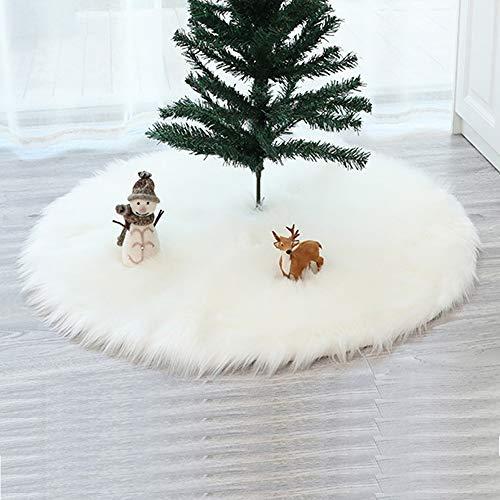 BeiLan Weihnachtsbaum Rock Weihnachtsbaum Boden Dekoration Weihnachtsdekorationen Baumschmuck (Weiß, 122cm)