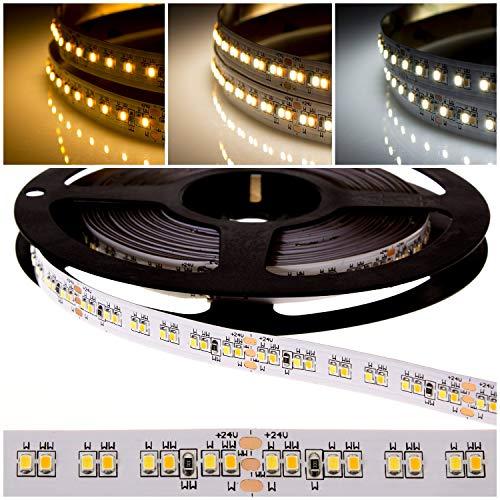 deutsche Marke DEMODU® - PREMIUM 24V 2 in 1 Dualchip CCT LED Streifen für professionelle Projekte - 5m 1200 SMD 2216