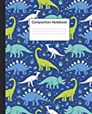 Composition Notebook: College Ruled Paper Notebook and Diary | Blank Medium Lined Journal for School Notes, Writing and Brilliant Ideas | Nifty Stegosaurs Dinosaur Cover