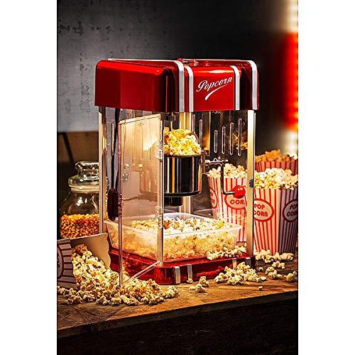 Máquina para hacer palomitas de maíz | para noches de cine en casa, fiestas, fiestas de cumpleaños, etc. | corto tiempo de calentamiento | fácil de limpiar | 300 W