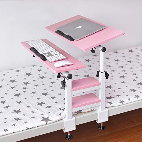 XBSXP Mesa para portátil Ajustable Soporte para portátil Cama de pie portátil Escritorio Sofá Plegable Bandeja de Desayuno Uso de la Cama Dormitorio Mesa pequeña Escritorio Perezoso-E
