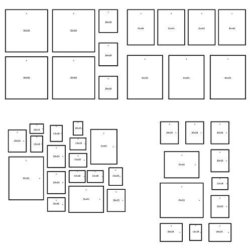 IKEA Matteby–Wandvorlage zum Aufhängen von Bilderrahmen-Collagen zu Hause, in der Schule, auf Arbeit, nur Poster-Vorlage, Rahmen nicht im Lieferumfang enthalten.