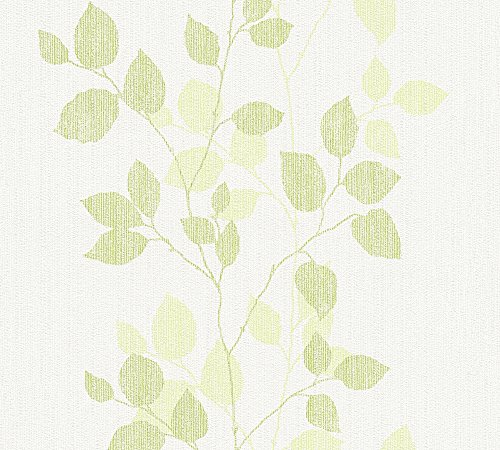 A.S. Création Vliestapete Happy Spring Tapete mit Blumen floral 10,05 m x 0,53 m grün weiß Made in Germany 347613 34761-3