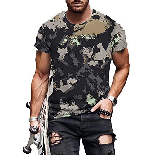 SSBZYES Camiseta De Verano para Hombre Camiseta De Talla Grande para Hombre Camiseta De Manga Corta para...