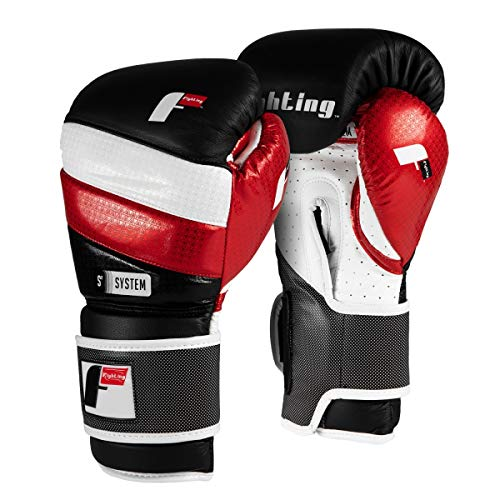 Fighting Sports S2 Gel Fear Training Gloves, Black/White/Red, 12 oz