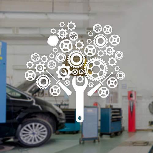 Modeganqingg Gear Mechaniker Auto Service Garage Reparatur Wandaufkleber Vinyl Innendekoration...