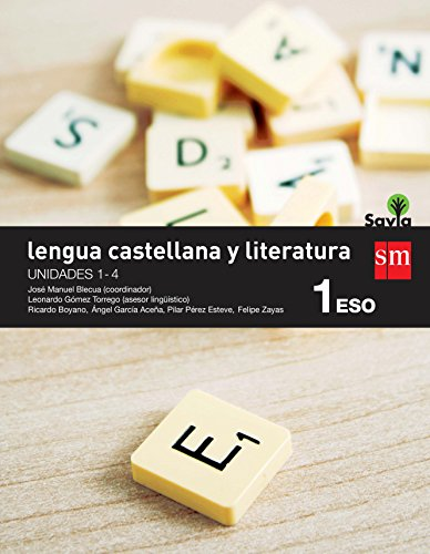 Lengua castellana y literatura. 1 ESO. Savia. Trimestres  - Pack de 3 libros - 9788467577938