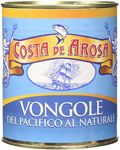 Vongole del Pacifico Sgusciate al Naturale Latta Kg 1-Peso Netto g 800
