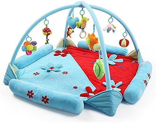 Huwai Musikalische Aktivit Gym Motion Aktivit ungiftig haben Spaß Geschenk Baby Spielen Matte Spielen Gym, Blau