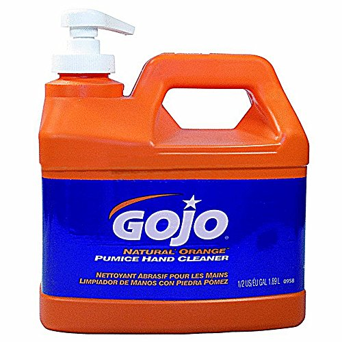 Gojo Hand Cleaner With Pumice Orange Formula 1/2 Gal. Plastic Bottle