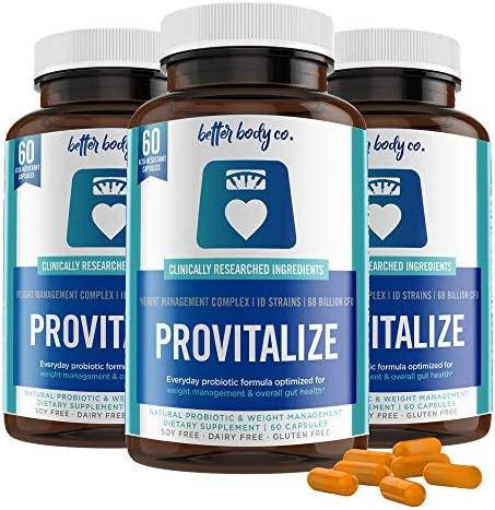 Original Provitalize | Natural Menopause Probiotics for Weight Gain, Hot Flashes, Night Sweats, Low Energy, Mood Swings, Gut Health. Unique Probiotics Formula (1 Bottle)