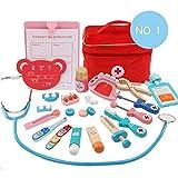 Arzt Medizinisches Spielzeug Kinder Arztkoffer Doktor Spielset Rollenspiel Geschenke für Mädchen und Jungen tingtin