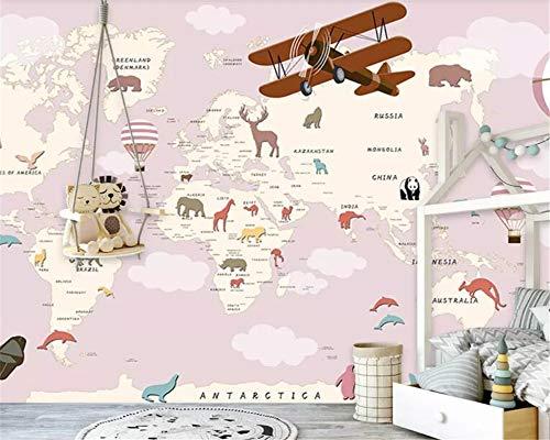 Behang, moderne heteluchtballon, vliegtuig, cartoon, kaarten, dieren, serie, aanpassen, 3D-behang, muurdecoratie, kunst, Hd-print, poster afbeelding, grote zijde, muurschilderijen voor kinderkamer, kleuterschool, spel R 320cm(H)×600cm(W) zoals getoond