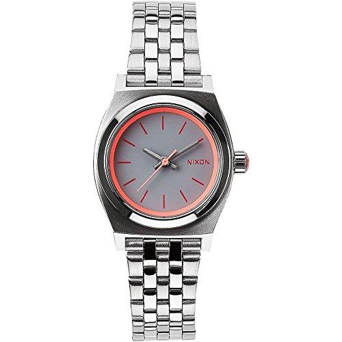 Nixon Time Teller - Reloj de acero inoxidable de mujer, pequeño