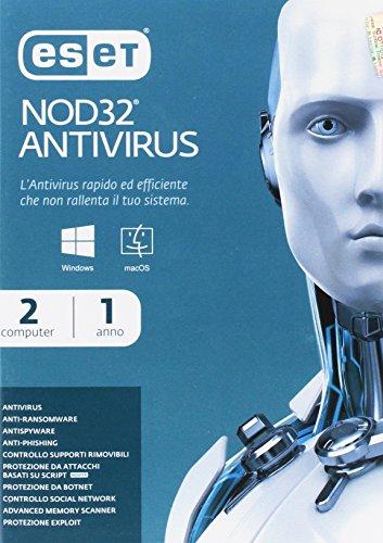 Eset Nod32 Antivirus 2 Utenti 1 Yr Full