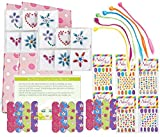 Spa Party Supplies for Girls - Mini Emery Boards (12), Colored Hair...