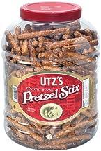 "Utz Country Store Pretzel Stix – 55 oz. Barrel –Thicker 4"" Pretzel Sticks, Perfect for Dipping - Thick, Crunchy Pretzel Sticks with Zero Cholesterol"