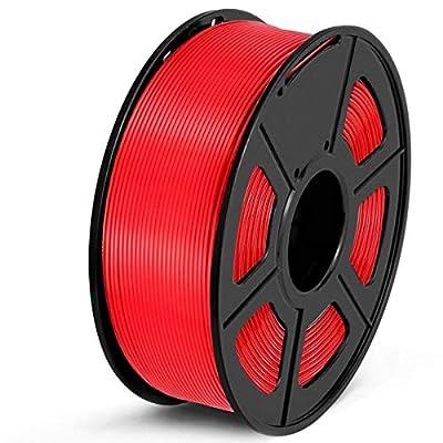 SUNLU PLA Filament 1.75mm 3D Printer Filament PLA 1kg Spool (2.2lbs), Dimensional Accuracy of +/- 0.02mm PLA Red