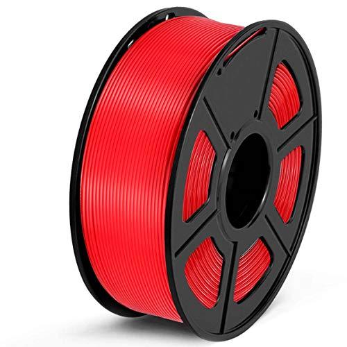 SUNLU Filamento PLA 1.75, Stampante 3D PLA Filamento 1kg Spool Tolleranza del diametro +/- 0,02 mm,PLA Rosso