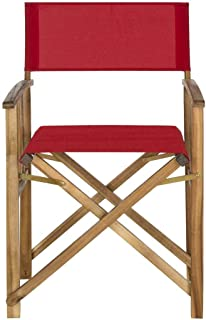 Safavieh Outdoor Living Collection Laguna Director Chairs, Brown/Red, Set of 2