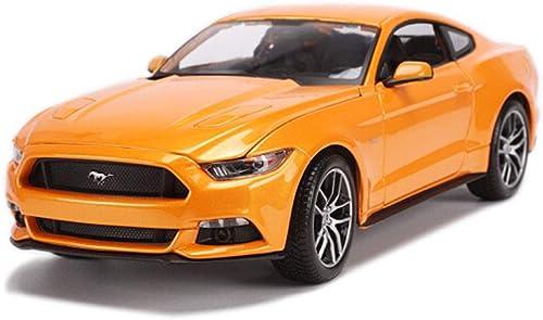 PENGJIE-Model 1 18 2015 Ford Mustang Auto Modell Simulation Legierung Modell Sammlung Dekoration Geschenk (Farbe   Weiß)